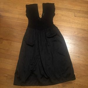 Other - Black lace and satin slip dress